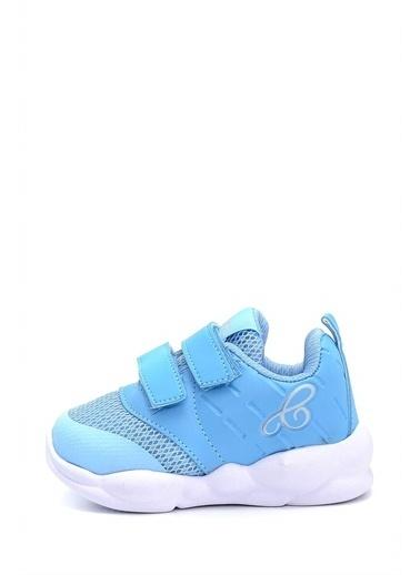 First Step Ultra Hafif Memory Foam İç Taban Çocuk Pembe Spor Ayakkabı M-1000 Mavi